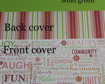 Pink love life  Planner Cover Custom, Happy planner cover, ARC cover, Discbound, Any size, custom planner cover-Pink, Green, orange