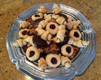 4 Dozen Assorted Cookies, Nut Free Assorted Cookie Tray, Assorted Cookie Platter, Spritz Cookies, Thumbprints Cookies, Rugelach Cookies