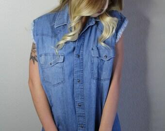 Vintage Jean Vest (Shirt)