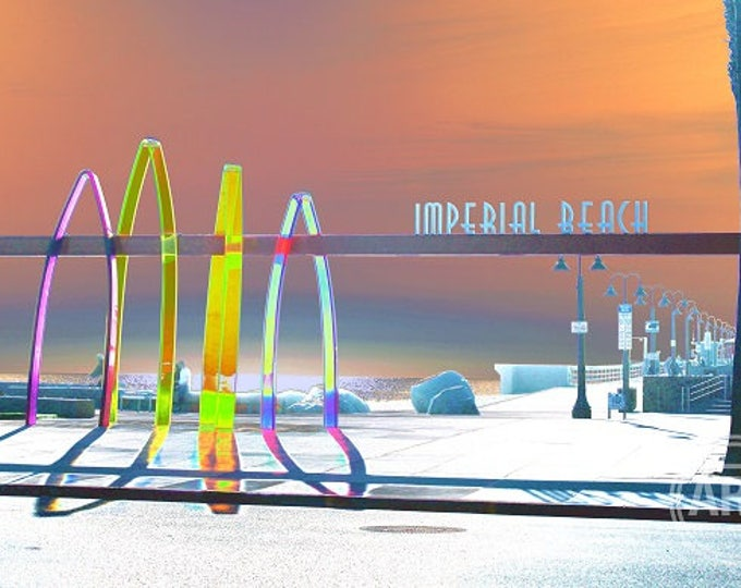 Hangin' ten at Imperial Beach Art Print