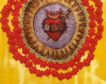 Processional Banner - Immaculate Heart of Mary