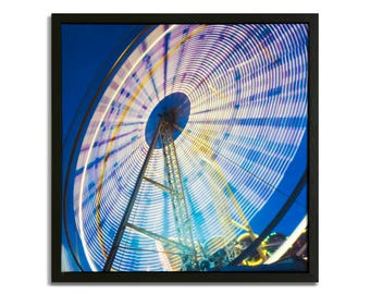 """Fine Art Photography """"Ferris Wheel"""" Framed Stretched Canvas"""