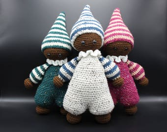 Crocheted by Mu One Too - the doll brown sugar Brown