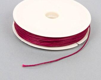 Spool of 20 meters of waxed thread 1 mm plum