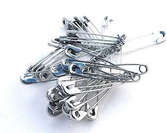 50 safety pins 40 x 9 mm