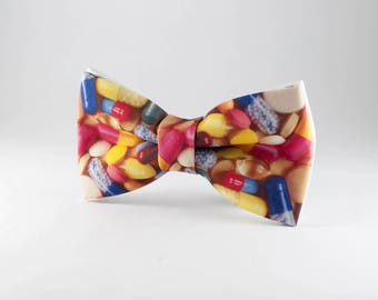 Bow ties for men, Mens Bowties, Wedding Bowtie, Pills BowTie Pharmacist gift Doctor bow tie Unique Bow Tie Handmade BowTie Pharmacist bowtie