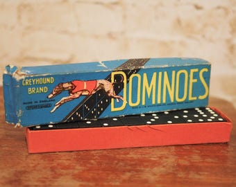 Vintage Greyhound Dominoes Set
