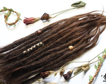 Human hair extensions Dreadlock (30-35 cm/13,5-15,5inch) 24 pcs