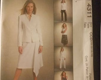 McCall's 4311 Jacket Top Skirt Pants