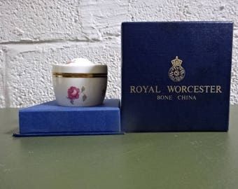 Royal Worcester Small Pot with Lid/Bournemouth/Fine Bone China/Collectable/Vintage/1970s