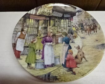 Davenport Pottery Collectors Plate/The Milkmaid by Brian Eden/Limited Edition/Collectable/Vintage/1991