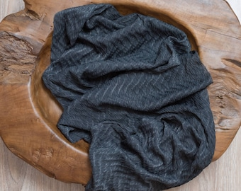 Newborn stretch Wrap CHARCOAL, Newborn Wrap, Stretch Wrap, Jersey Wrap, newborn photography prop