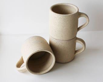 Beige mug, ceramic mug, coffee mug, coffee mug, tea mug, handmade mug,