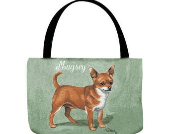 Chihuahua Personalized Tote Bag with Your Pet's Name