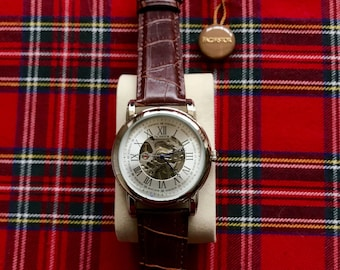 New For The Summer A Gentleman's Skeleton Watch With A Luxurious Leather Strap