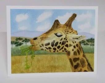 Fine Art Print Greeting Card - Contentment