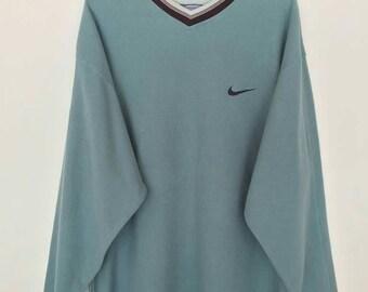 Rare!! Vintage Nike Small Logo Embroidery Sweatshirt