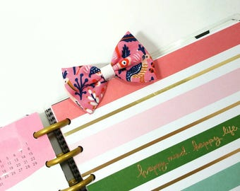 Rifle Paper Co Fabric Bow Planner Charm and Clip