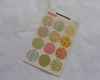 Stickers 5 sheets 60-piece set pieces, Japanese style deco style