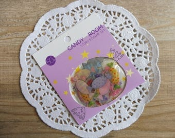 Stickers 50 piece candies in assorted designs