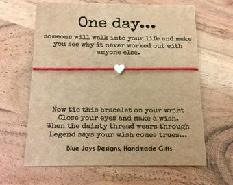Best Friend Gift, Break Up Gift, Divorce Card, Divorce Jewelry, One Day Quote, Wish Bracelet, BFF Gift, Mood Jewelry, cheer up gifts