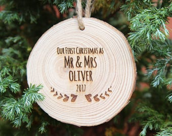 Mr and mrs ornament | Etsy