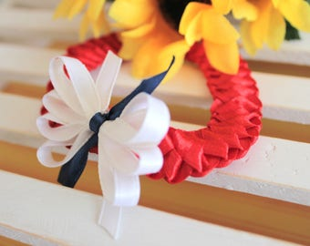 Headband for Newborn and Baby | Red and White Headband | Satin Headband | Unique Headband