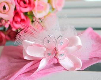 Pink Headband | Princess Headband | Butterfly Headband
