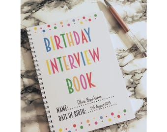 Personalised Birthday Interview Book