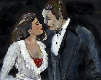 Phantom artwork andrew lloyd webber phantom of the opera painting poster print paintings prints art
