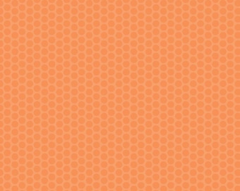 Orange Dot Fabric - Riley Blake Honeycomb Dot - Orange on Orange Dot Fabric - Tonal Orange