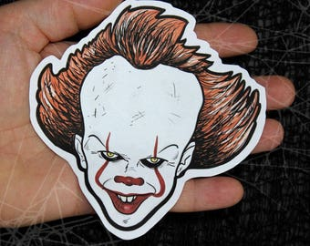 Pennywise-IT 2017-Stephen King Inspired Large Paper Sticker