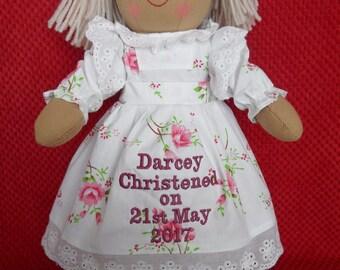 Personalised Rag Doll Christening Baptism holy Communion Dedication  Gift