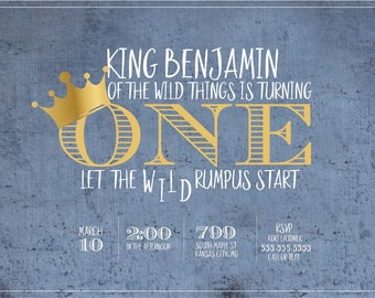King of the Wild Things - Birthday Invitation
