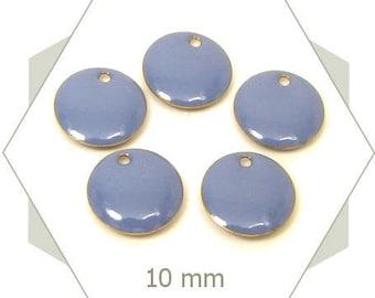 6 sequins blue jeans SEC05 charms 10 mm