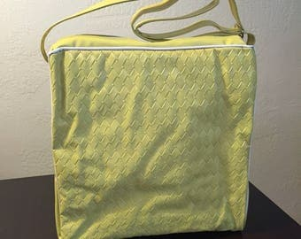 Vintage Vinyl Bag/Diaper Bag- new condition, still had inside packing in it