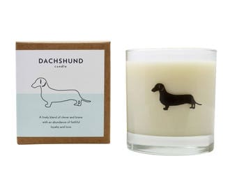 Dachshund Soy Candle Dachshund Candle Dachshund Gift Dog Candle Doxie Wiener Dog Candle The Original Scripted Fragrance Candle