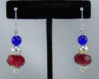 E209 - Patriotic Earrings