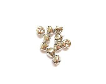 10 pendants form bells silver matte 15mm