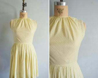 1950s Take the Thyme cotton dress | vintage 50s dress | cotton sun dress