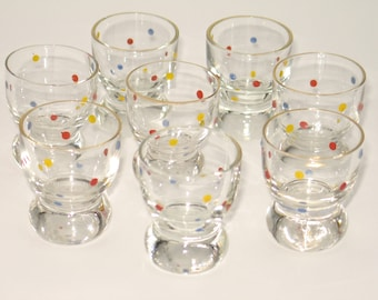 Vintage 50s liquor glasses