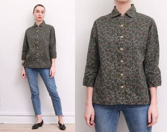 50s Military Issue Camo Shirt / S