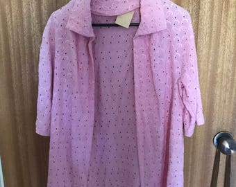 Pink house coat