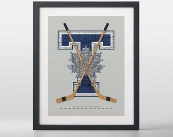 Toronto Maple Leafs-inspired Hockey Art Print