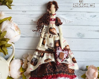 Tilda Doll - Fairy chocolate Tilda - Tilda Dolls - Rag doll - Birthday gift - Gift for the chocolate lover - Сhocolate gift - Tilda rag doll