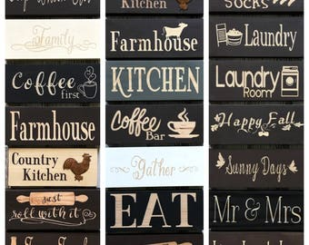 Kitchen Decor Signs, Coffee First Sign, Coffee Bar Sign, Farmhouse Kitchen  Sign,
