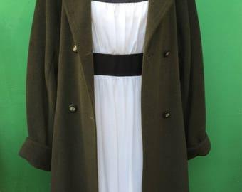 MAX MARA|Max Mara coat |Vintage coat| Max Mara vintage | 80s coat | cappotto di lana| Verde oliva coat | Made in Italy | Vintage fashion