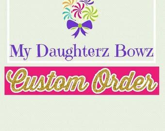 Custom order for Larnecia Gardner/Pretty Gifted Kouture