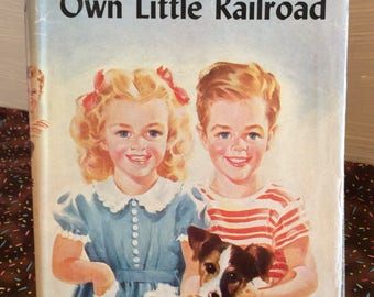 Bobbsey Twins 1951 Vintage Book ~ Own Little Railroad ~ Laura Lee Hope ~ Young Readers Classic Books