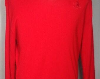 25% OFF SALE Vintage Red IZOD Sweater (large)